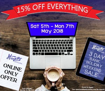 15% OFF EVERYTHING ONLINE ONLY!
