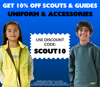 10% OFF SCOUTS & GUIDES