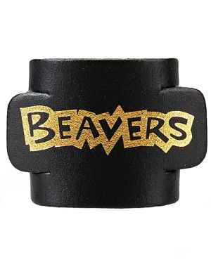 Beavers Leather Woggle - Black