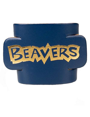Beavers Leather Woggle - Blue