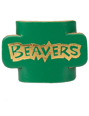 Beavers Leather Woggle - Green