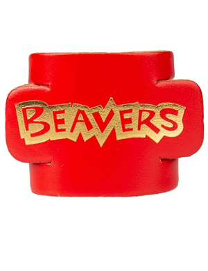 Beavers Leather Woggle - Red