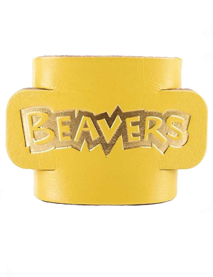 Beavers Leather Woggle - Yellow