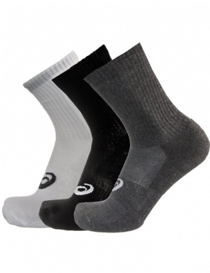 Asics Unisex Crew Socks 3pk Assorted