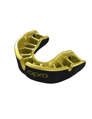 Opro Gold Competition Level Mouthguard Black/Gold