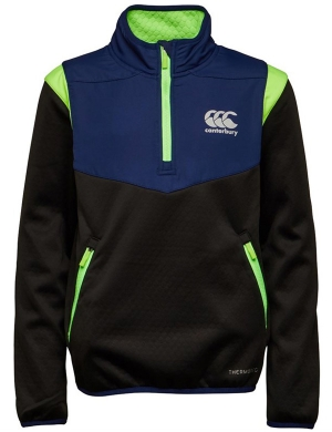 Canterbury Junior Thermoreg Spacer-Fleece 1/4 Zip Top