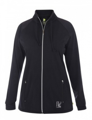 Pure Lime Cross Over Jacket Black