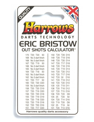 Harrows Eric Bristow Calculator Card
