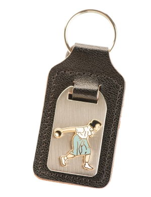 Drakes Pride Leather Key Fob Ladies