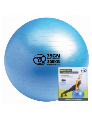 Fitness-Mad Swiss Ball, Pump and DVD Set 300Kg (75cm)