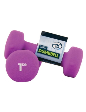 Fitness-Mad Pair of 1Kg Neo Dumbbells