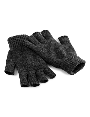 Beechfield Fingerless Gloves Charcoal