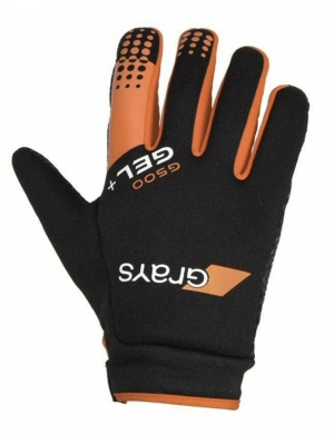 Grays G500 Gel Hockey Gloves Orange (Clearance)
