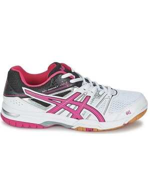 Asics Women's Gel-Rocket 7 White/Magenta/Black
