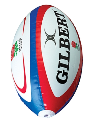 Gilbert England Giant Inflatable Rugby Ball 120cm