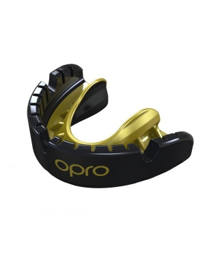 Opro Gold Competition Level Mouthguard For Braces Black
