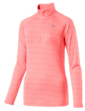 Puma Core Run 1/2 Zip Long Sleeve Top Peach