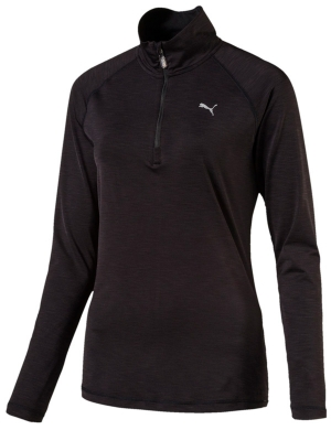 Puma Core Run 1/2 Zip Long Sleeve Top Black