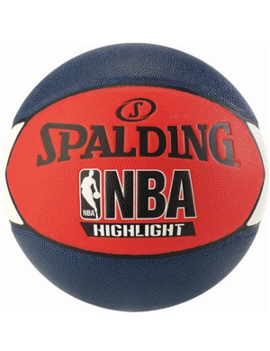 Spalding NBA Highlight Basketball Navy/Red