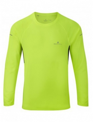 Ronhill Mens Long Sleeve Pursuit Tee Fluo Yellow