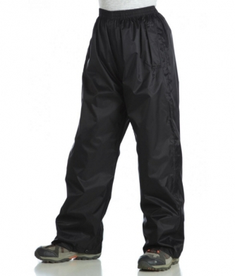 Kids Pack-It Waterproof Overtrousers Black (LAST CHANCE TO BUY)