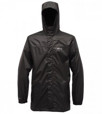 Regatta Men's Pack-It Waterproof Jacket Black