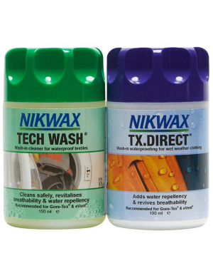 Nikwax Tech Wash 150ml/ TX.Direct© 100ml Twin Pack