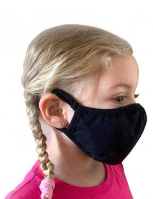 Next Level Kids Eco Performance Face Mask Black