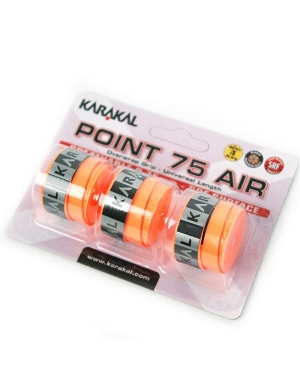 Karakal Point 75 Air Overwrap Grip Orange 3pk