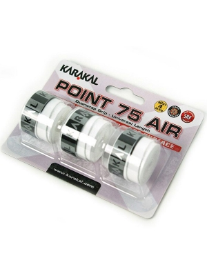 Karakal Point 75 Air Overwrap Grip White 3pk