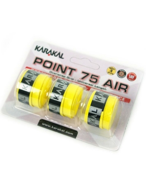 Karakal Point 75 Air Overwrap Grip Yellow 3pk