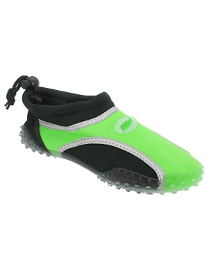 PDQ Kids Unisex Rear Toggle Aqua & Beach Water Shoes Lime Green