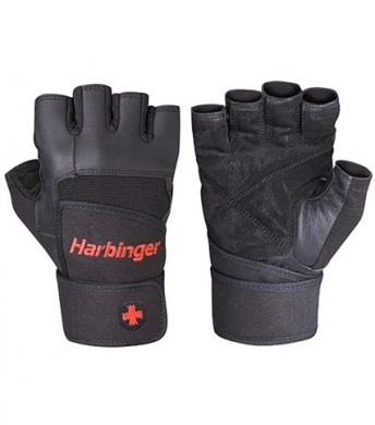 Harbinger Men's Pro WristWrap Gloves  Black