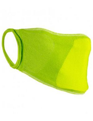 Result Anti-Bacterial Face Cover RV009 Lime Green 1pk