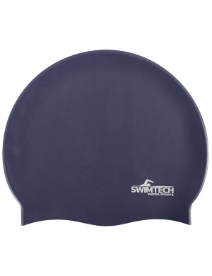 SwimTech Senior Silicone Cap Navy