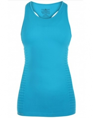 Pure Lime Seamless Tank Top Blue