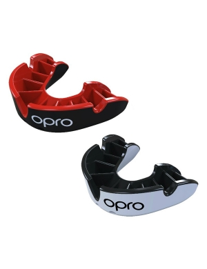 Opro Junior Silver Match Level Mouthguard Twin Pack
