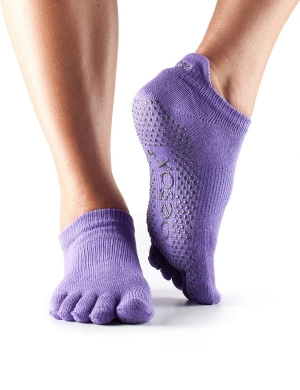 Fitness-Mad ToeSox Low Rise Grip Socks Purple