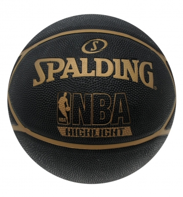 Spalding NBA Highlight Basketball Black/Gold