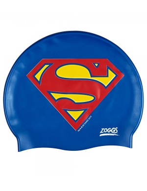 Zoggs Junior Silicone Swim Cap Superman