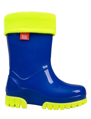 Term Footwear Roll Top Wellington Boots Royal