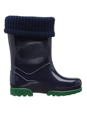 Term Footwear Roll Top Wellington Boots Navy