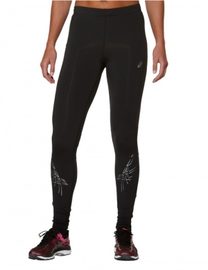 Asics Stripe Tights Black
