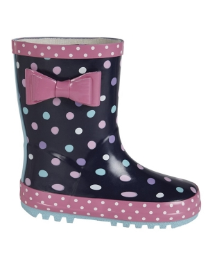 Stormwells Girls Bow Trim Wellington Boots W397NC