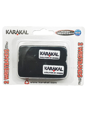 Karakal Wristbands Black 2pk