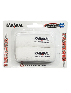 Karakal Wristbands White 2pk