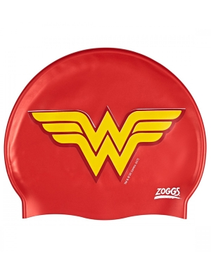 Zoggs Junior Silicone Swim Cap Wonder Woman