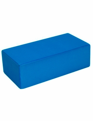 Fitness-Mad Hi-Density Yoga Brick Blue