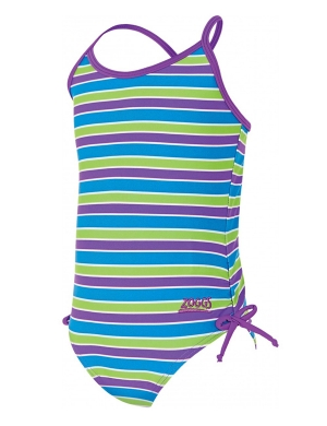 Zoggs Bliss Stripe Paddle Back Swimsuit (1-6yrs)