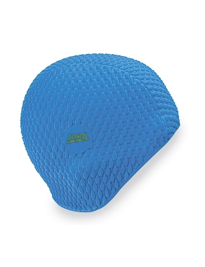 Zoggs Bubble Swim Cap Blue